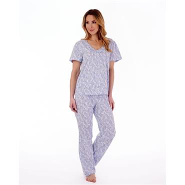 Slenderella Blue Paisley Pyjamas