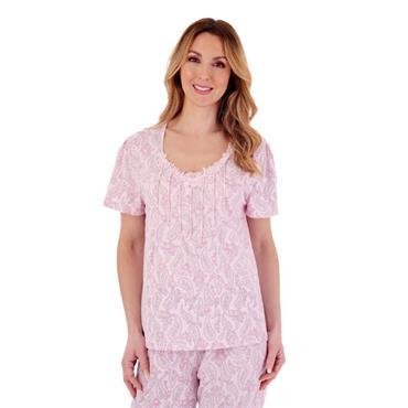 Slenderella Pink Paisley Pyjamas