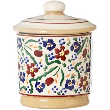Small Round Lidded Jar - Old Rose