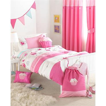 Riva Home Cupcakes Pink Duvet Set - Double