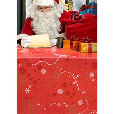 Oil Cloth - F - Red Christmas