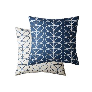 Small Linear Stem Cushion – Whale by Orla Kiely