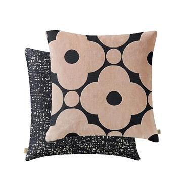 Spot Flower Velvet Cushion Tea Rose by Orla Kiely, 50cm x 50cm