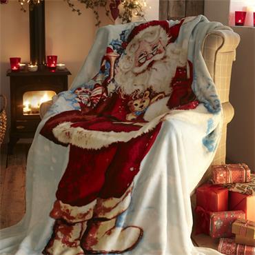 Father Christmas Fleece Throw