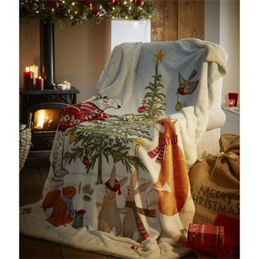 Night before Christmas Fleece Throw
