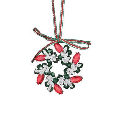 Wreath with Coloured Stones Decoration - Newbridge Silverware