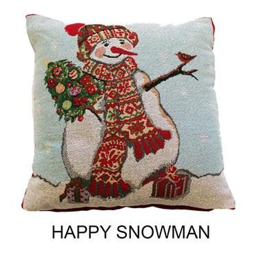 Happy Snowman - Cushion cover only