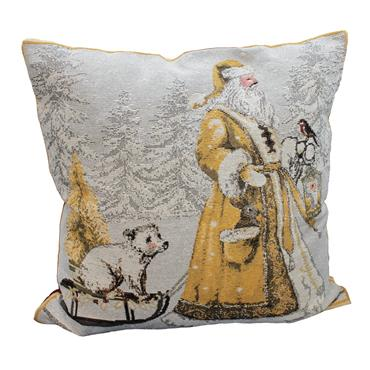 TWILIGHT SANTA GOLD - Cushion Cover Only