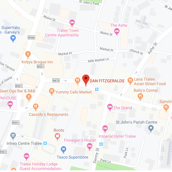 Dan Fitzgeralds location map