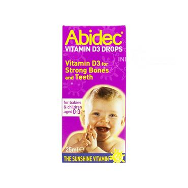 Abidec Vitamin D3 Drops for Babies & Children aged 0-3 25ml