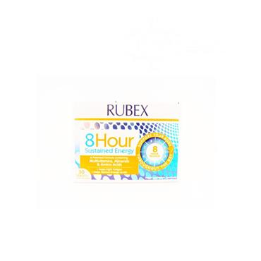 Rubex 8 Hour Sustained Energy Tablets 30 Pack