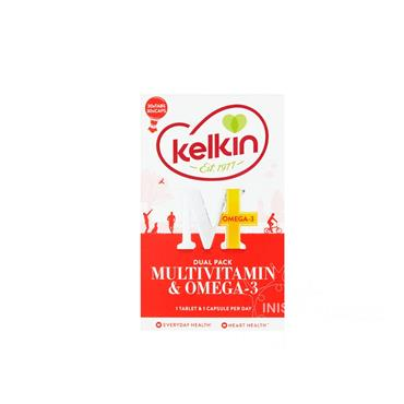 Kelkin Multivitamin Complex with Ginseng & CO-Q-10 + Omega 3 Caps 30+30 Pack
