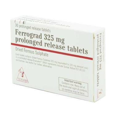 Ferrograd 325mg Prolonged Release Tablets 30 Pack