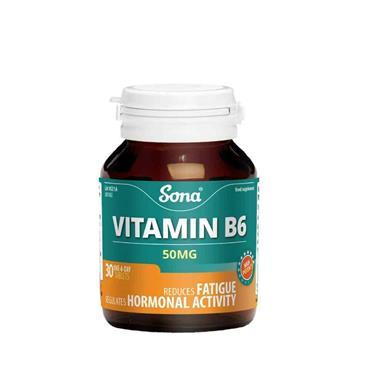 Sona Vitamin B6 50mg 30 Tablets