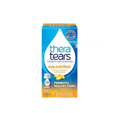 Thera Tears Nutrition 1200mg Omega-3 Supplement With Vitamin E 90 Caps