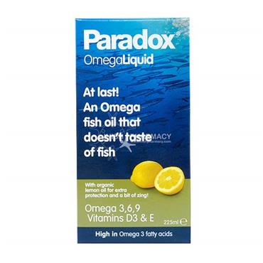Paradox Omega Liquid With Omega-369 And Vitamin D3 225ml