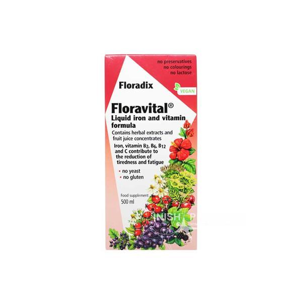 Floradix Floravital Liquid Iron And Vitamin Formula 500ml Inish Pharmacy Ireland
