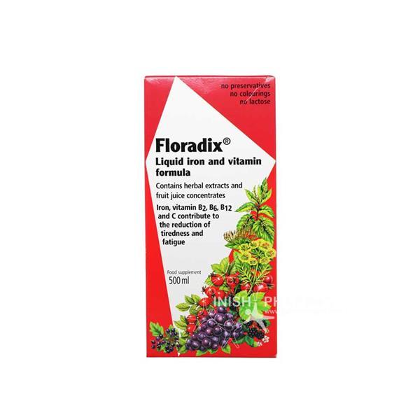Floradix Liquid Iron And Vitamin Formula 500ml Inish Pharmacy Ireland