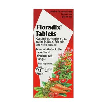 Floradix Tablets With Iron Vitamins Folic Acid And Herbal Extracts 84 Pack