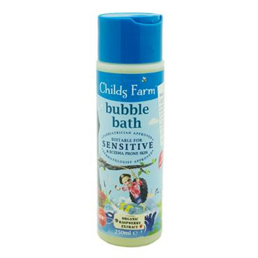 Childs Farm Bubble Bath For Sensitive Skin Organic Raspberry 250ml