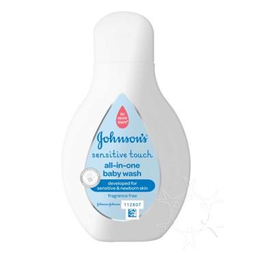 Johnsons Sensitive Touch Baby All-In-One Wash 250ml