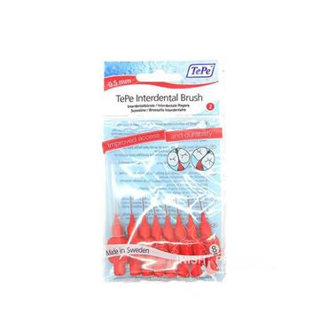 TePe Red Interdental Brush 0.5mm 8 Pieces