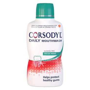 Corsodyl Daily Mouthwash Freshmint Alcohol free 500ml