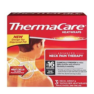 ThermaCare 16 Hour Heatwraps Upper Back Neck Shoulder & Wrist 3 Pack