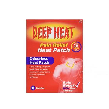 Deep Heat Odourless Heat Patch 4 Single Patches