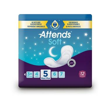 Attends Soft Pads 5 Maxi Plus - 12 Pack