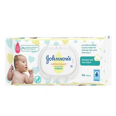 Johnsons Baby Extra Sensitive Cotton Touch Wipes 56 Pack