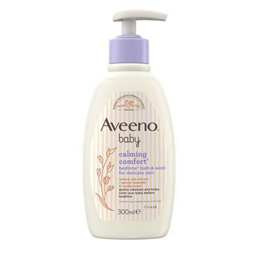 Aveeno Baby Calming Comfort Bedtime Bath & Wash For Delicate Skin 300ml