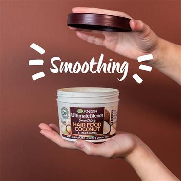 Garnier Ultimate Blends Smoothing Hair Food Coconut & Macadamia 390ml