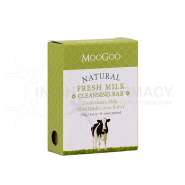 MooGoo Olive Oil & Cocoa Fresh Goats Milk Soap Bar 120g