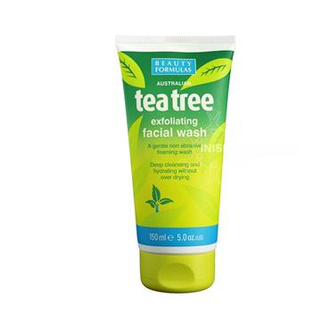 Beauty Formulas Australian Tea Tree Exfoliating Facial Wash 88351 150ml