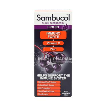 Sambucol Black Elderberry Liquid Immuno Forte 120ml