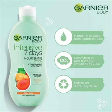 Garnier Body Intensive 7 Days Nourishing Lotion Dry Skin Mango Oil 400ml