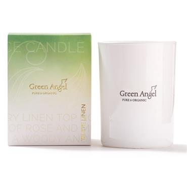 Green Angel Pure Organic Candle White Linen