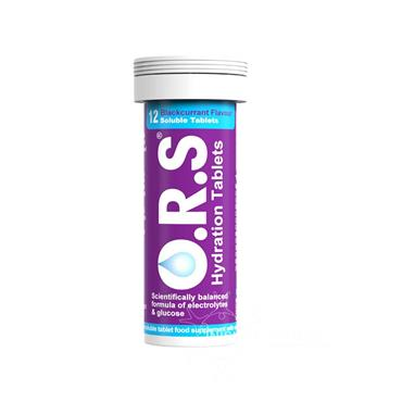 O.R.S. Rehydration Salts (ORS) Blackcurrant Flavour 12 Pack