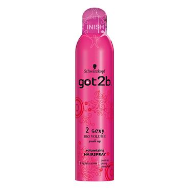 Schwarzkopf Got2b 2 Sexy Big Volume Push Up Volumising Hairspray 300ml