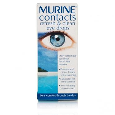 Murine Contacts Refresh And Clean Eye Drops 15ml