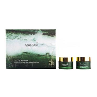 Green Angel Seaweed & Collagen Face Cream & Seaweed Night Cream Gift Set