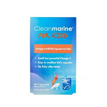 Cleanmarine Omega 3 Krill Oil For Kids 60 Capsules