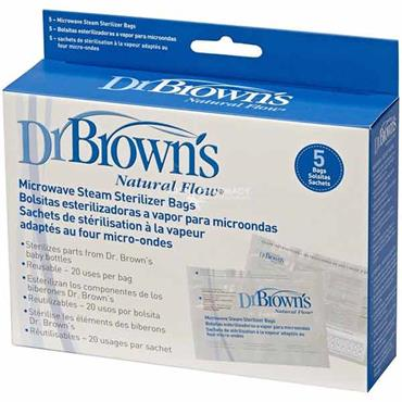 Dr Browns Natural Flow Microwave Steam Sterilizer Bags 5 Pack