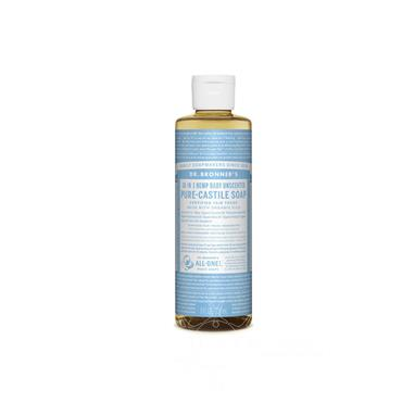 Dr Bronner's Unscented Baby-Mild Pure-Castile Soap 237ml