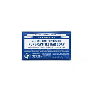 Dr Bronner's Peppermint Pure-Castile Soap 140g