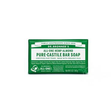 Dr Bronner's Almond Pure-Castile Soap 140g