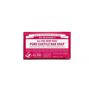 Dr Bronner's Hemp Rose Pure-Castile Soap 140g