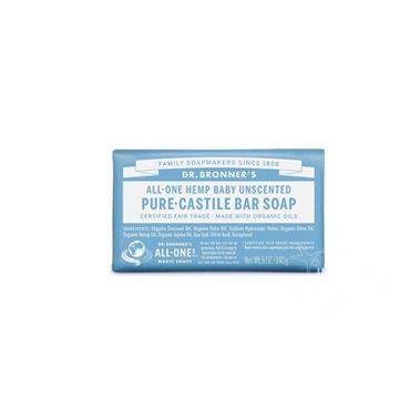 Dr Bronner's Unscented Baby-Mild Pure-Castile Soap 140g