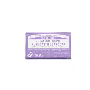 Dr Bronner's Lavender Pure-Castile Soap 140g